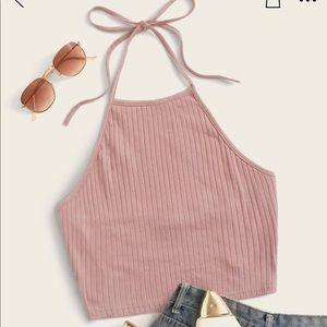 Rib-knit Halter Top // Size: Small